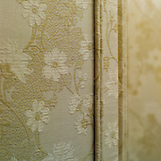 Detail, privacy screen.  Dining room.  Private home of retired set designer.