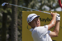 February 3, 2018 - Shah Alam, Kuala Lumpur, Malaysia - David Lipsky is seen taking a shot from hole no 12 on day 3 at the Maybank Championship 2018...The Maybank Championship 2018 golf event is being hosted on 1st to 4th February at Saujana Golf & Country Club. (Credit Image: © Faris Hadziq/SOPA via ZUMA Wire)