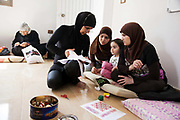 Delal is a Syrian Palestinian refugee from Damascus. She now lives in Shatila camp with her family after they fled the war in Syria. She runs workshops with her adult daughter where they teach other Syrian women refugees traditional handy craft.