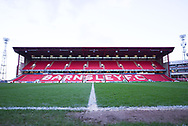 A wide view of the main stand before the EFL Sky Bet League 1 match between Barnsley and Sunderland at Oakwell, Barnsley, England on 12 March 2019.