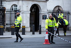 © Licensed to London News Pictures. 09/11/2016. London, UK. Whitehall has been closed, possibly due to a suspicious van. Photo credit : Tom Nicholson/LNP
