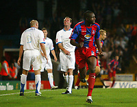 Photo: Chris Ratcliffe.<br /> Crystal Palace v Southend United. Coca Cola Championship. 08/08/2006.<br /> Leon Cort of Palace celebrating scoring the first Palace goal to make it 1-1.