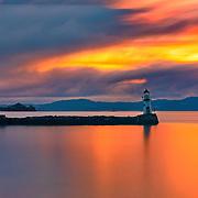 Golden Sunset Over Trondheimfjord
