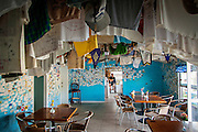 Decoration on the inside of Miss Emily's Blue Bee Bar home of the Goombay Smash on Green Turtle Cay, Bahamas.
