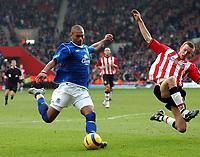 Fotball<br /> Premier League 2004/05<br /> Southampton v Everton<br /> 6. februar 2005<br /> Foto: Digitalsport<br /> NORWAY ONLY<br /> MARCUS BENT SCORES EVERTON'S LATE EQUALIZER