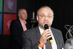 © Licensed to London News Pictures . 23/09/2018. Liverpool, UK. RABBI ARIEL ABEL speaks at a rally by The Jewish Labour Movement at The Liverpool Pub in central Liverpool during the first day of the 2018 Labour Party Conference . Photo credit: Joel Goodman/LNP