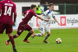 Amadej BRECL vs Tilen MLAKAR Football match between NK Triglav Kranj and NK Celje, on May 12, 2019 in Sport center Kranj, Kranj, Slovenia. Photo by Peter Podobnik / Sportida