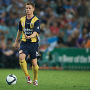 Michael McGlinchey in action during the Sydney FC V Central Coast Mariners A-League match at the Sydney Football Stadium, Sydney, Australia, 23 December 2009. Photo Tim Clayton