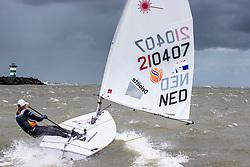 Marit Bouwmeester training in Scheveningen. Marit will represent the Netherlands in the Laser Radial class during 2020 Summer Olympics. Saturday, 8 June 2019.
