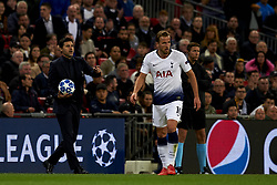 October 3, 2018 - London, England, United Kingdom - Mauricio Pochettino of Tottenham gives instructions during the Group B match of the UEFA Champions League between Tottenham Hotspurs and FC Barcelona at Wembley Stadium on October 03, 2018 in London, England. (Credit Image: © Jose Breton/NurPhoto/ZUMA Press)