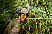 Lance Corporal David Richvalsky, 19, from Waialua, Hawaii, on patrol in Sangin.