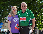 26/5/18 RTE weather girl Nuala Carey and Gavin Duffy at the Calcutta Run at the Law Society of Ireland, in aid of the Hope Foundation and the Peter McVerry Trust. Picture:Arthur Carron
