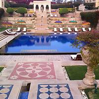 Asia, India, Agra. Oberoi Amarvilas Pool & Terraces.