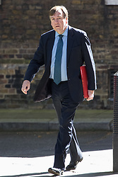 Downing Street, London, May 3rd 2016. Culture, Media and Sport Secretary John Whittingdale arrives at 10 Downing Street for the weekly cabinet meeting. ©Paul Davey<br /> FOR LICENCING CONTACT: Paul Davey +44 (0) 7966 016 296 paul@pauldaveycreative.co.uk