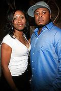 """Sandra Azor and James Azor at the Alica Keys """" As I am"""" celebration wrap party at Park on June 18, 2008"""