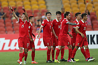 Fotball<br /> Asian Cup / Asiamesterskapet<br /> 10.01.2015<br /> Kina v Saudi Arabia<br /> Foto: imago/Digitalsport<br /> NORWAY ONLY<br /> <br /> Yu Hai (L) of China celebrates his goal with teammates during a Group B match against Saudi Arabia at the AFC Asian Cup in Brisbane, Australia, Jan. 10, 2015. China won 1-0