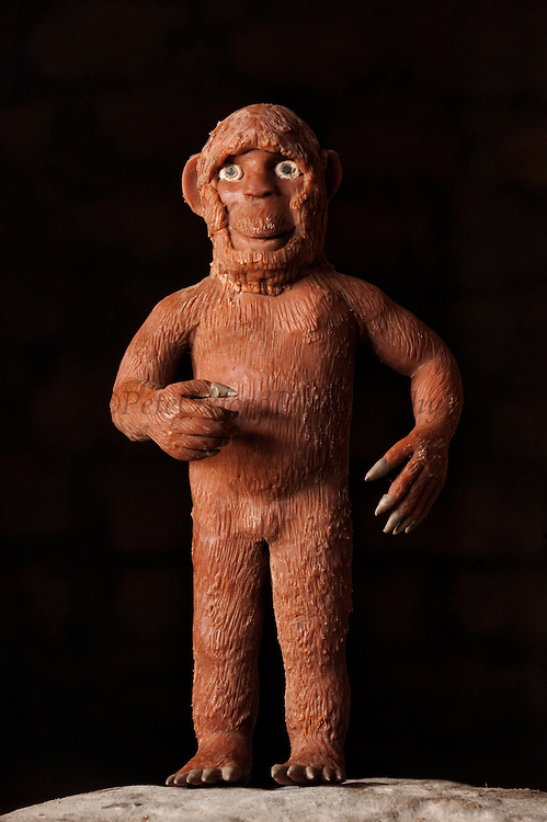 Balata Bush Dai Dai, Mythical jungle creature feared by the Mukushi Indians. The explorer Charles Waterton constructed a Bush Dai Dai from various animal parts which was displayed in the British Museum labeled the 'Non-descript'<br /> Nappi<br /> Rupununi<br /> GUYANA<br /> South America
