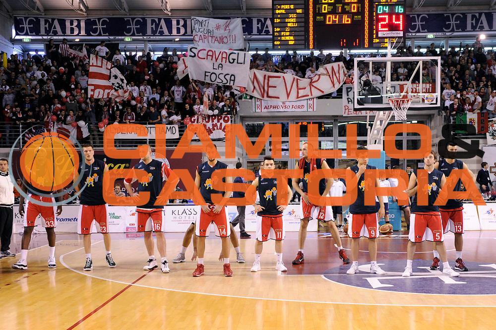 DESCRIZIONE : Ancona Lega A 2011-12 Fabi Shoes Montegranaro Scavolini Siviglia Pesaro<br /> GIOCATORE : before<br /> CATEGORIA : before tifosi<br /> SQUADRA : Scavolini Siviglia Pesaro<br /> EVENTO : Campionato Lega A 2011-2012<br /> GARA : Fabi Shoes Montegranaro Scavolini Siviglia Pesaro<br /> DATA : 01/04/2012<br /> SPORT : Pallacanestro<br /> AUTORE : Agenzia Ciamillo-Castoria/C.De Massis<br /> Galleria : Lega Basket A 2011-2012<br /> Fotonotizia : Ancona Lega A 2011-12 Fabi Shoes Montegranaro Scavolini Siviglia Pesaro<br /> Predefinita :