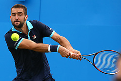 June 23, 2017 - London, United Kingdom - Marin Cilic CRO against Donald Young (USA) against  during Men's Singles Quarter Final match on the fourth day of the ATP Aegon Championships at the Queen's Club in west London on June 23, 2017  (Credit Image: © Kieran Galvin/NurPhoto via ZUMA Press)