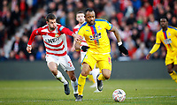 Football - 2018 / 2019 Emirates FA Cup - Fifth Round: Doncaster Rovers vs. Crystal Palace<br /> <br /> Matty Blair of Doncaster Rovers and Jordan Ayew of Crystal Palace at Keepmoat Stadium<br /> <br /> COLORSPORT/LYNNE CAMERON
