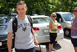 Jaka Lakovic of Slovenia Basketball national team at departure to Rogla before World Championship in Turkey, on July 10, 2010 at KZS, Ljubljana, Slovenia. (Photo by Vid Ponikvar / Sportida)