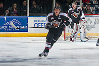 KELOWNA, CANADA - FEBRUARY 10: Jordan Borstmayer #11 of the Vancouver Giants skates against the Kelowna Rockets on February 10, 2017 at Prospera Place in Kelowna, British Columbia, Canada.  (Photo by Marissa Baecker/Shoot the Breeze)  *** Local Caption ***