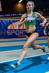 Sarah van Beilen in action on 1000 meters during the Dutch Athletics Championships on 14 February 2021 in Apeldoorn