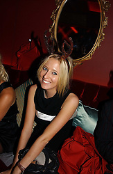 The HON.SOPHIA HESKETH at a party hosted by Camilla Al Fayed, Charlotte Stockdale and Patrick Cox in aid of the Evelina Children's Hospital Trust held at th Burlington Club, New Burlington Street, London on 12th December 2006.<br /><br />NON EXCLUSIVE - WORLD RIGHTS