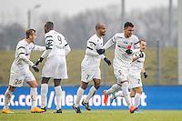 JOIE DE Fabien BOYER - 24.01.2015 - Clermont / Chateauroux  - 21eme journee de Ligue2<br />Photo : Jean Paul Thomas / Icon Sport