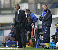 Photo: Lee Earle.<br /> Torquay United v Hartlepool United. Coca Cola League 2. 17/02/2007.Torquay's Director of football Colin Lee (R) and head coach Keith Curle (L) look on as they trail to Hartlepool.