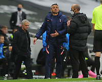 Football - 2020 /2021 Premier League - Tottenham Hotspur vs Newcastle United<br /> <br /> Tottenham coach remonstrates at the side of the pitch after the controversial goal from the penalty is taken in injury time, , at the Tottenham Hotspur Stadium.<br /> <br /> COLORSPORT/ANDREW COWIE