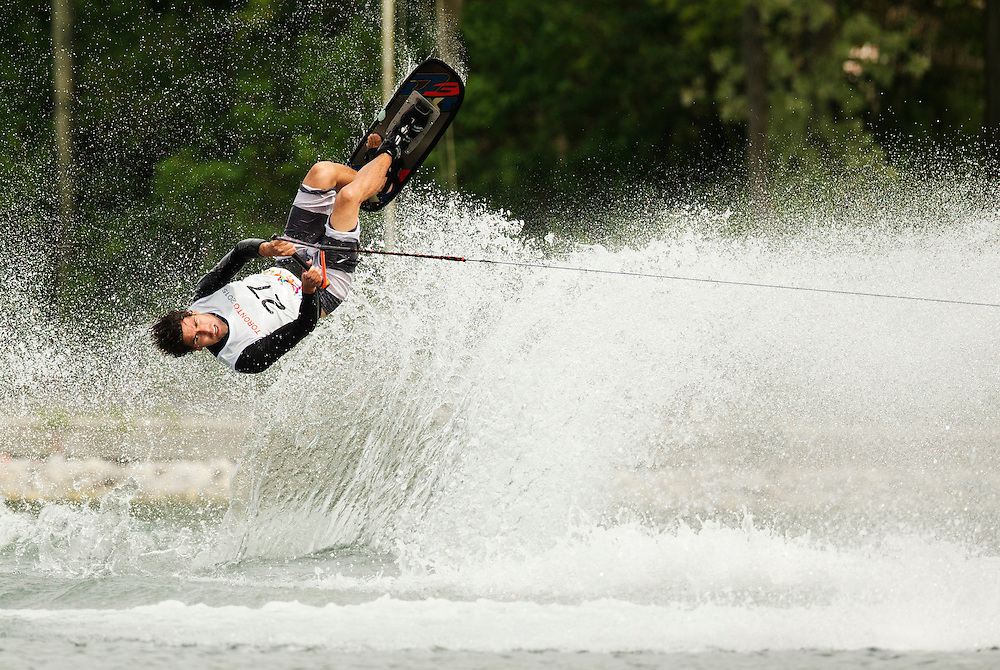 Alvaro Lamadrid of Mexico competes during the men's tricks preliminary round at the Pan Am Games in Toronto, Monday July 20, 2015.    THE CANADIAN PRESS/Mark Blinch