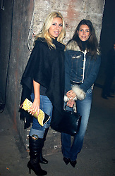 Left to right, BEVERLEY BLOOM and NATALYA MANOUKIAN at a party for De Beers to celebrate the launch of their Rough diamond •Talisman Collectionê held at Shunt Vaults, London Bridge, London SE1 on 28th November 2005.<br /><br />NON EXCLUSIVE - WORLD RIGHTS