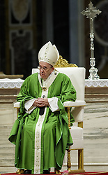 November 13, 2016 - Vatican City, Vatican - Pope Francis celebrates a Holy Mass for the Jubilee of the Homeless in St. Peter's Basilica. (Credit Image: © Giuseppe Ciccia/Pacific Press via ZUMA Wire)
