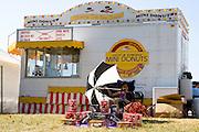 Mini donut concession stand. Hmong Sports Festival McMurray Field St Paul Minnesota USA