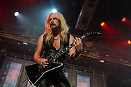 Judas Priest guitarist Richie Faulkner performs as the band kicked off their 50th anniversary tour Sept. 8, 2021, at Santander Arena in Reading, Pennsylvania.