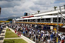 June 24, 2018 - Le Castellet, France - Motorsports: FIA Formula One World Championship 2018, Grand Prix of France, .Overview pit lane  (Credit Image: © Hoch Zwei via ZUMA Wire)