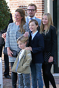 Doop Willem Jan ( 01-07-2013), zoon van Prins Floris en Prinses Aimee oppaleis het Loo<br /> <br /> Christening of Willem Jan ( 01-07-2013), son of Prince Floris and Princess Aimee on palace het Loo<br /> <br /> Op de foto / On the photo: Prins Bernhard en Prinses Annette en Isabella en Samuel en Benjamin / Prince Bernhard and Princess Annette and Isabella and Samuel and Benjamin