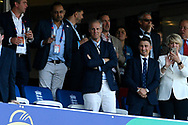 England chairman of selectors Ed Smith standing to watch the trophy presentation after England won the cricket World Cup during the ICC Cricket World Cup 2019 Final match between New Zealand and England at Lord's Cricket Ground, St John's Wood, United Kingdom on 14 July 2019.