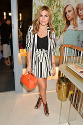 ZOE HARDMAN at the launch of the new J&M Davidson flagship shop at 104 Mount Street, London on 3rd February 2016.
