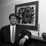 NLD/Oosterbeek/19910816 - Emile Ratelband in zijn huis in Oosterbeek