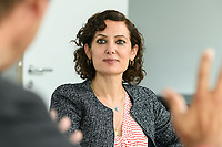 02 SEP 2020, BERLIN/GERMANY:<br /> Naika Foroutan, Politik- und Sozialwissenschaftlerin, im Gespraech, Bundeszentrale fuer politische Bildung<br /> IMAGE: 20200902-02-004