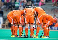 ROTTERDAM - HOCKEY - Oranje  tijdens de wedstrijd tussen de mannen bvan Nederland en Nieuw Zeeland (3-3)  bij de Rabobank Hockey World League in Rotterdam. ANP KOEN SUYK
