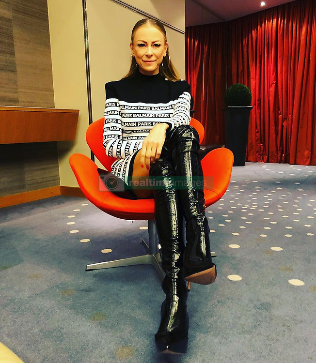 """Jenny Elvers releases a photo on Instagram with the following caption: """"Und heute die Wanderstiefel..\ud83d\udc8b#d\u00fcsseldorf #gloriaawards #glanzundgloria #gloriaaward2019 #deutscherkosmetikpreis #preisverleihung #thesebootsaremadeforwalking  WERBUNG/ Anzeige. @kick.management @elisabettafranchi @balmain"""". Photo Credit: Instagram *** No USA Distribution *** For Editorial Use Only *** Not to be Published in Books or Photo Books ***  Please note: Fees charged by the agency are for the agency's services only, and do not, nor are they intended to, convey to the user any ownership of Copyright or License in the material. The agency does not claim any ownership including but not limited to Copyright or License in the attached material. By publishing this material you expressly agree to indemnify and to hold the agency and its directors, shareholders and employees harmless from any loss, claims, damages, demands, expenses (including legal fees), or any causes of action or allegation against the agency arising out of or connected in any way with publication of the material."""