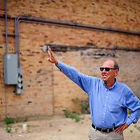081914       Cable Hoover<br /> <br /> Rick Bennett with RBA Architecture describes plans for the  El Morro Theatre expansion during a groundbreaking ceremony Tuesday in Gallup.