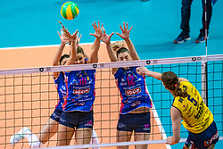 18-05-2019 GER: CEV CL Super Finals Igor Gorgonzola Novara - Imoco Volley Conegliano, Berlin<br /> Igor Gorgonzola Novara take women's title! Novara win 3-1 / Cristina Chirichella #10 of Igor Gorgonzola Novara, Francesca Piccinini #12 of Igor Gorgonzola Novara, Robin de Kruijf #5 of Imoco Volley Conegliano