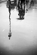 A wet walk in the streets of Paris