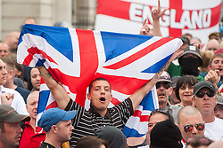 """Rotherham England<br /> 13 September 2014 <br /> EDL members and supporters outside Rotherham Town Hall before the start of the English Defence Leagues Justice for the Rotherham 1400 March on Saturday Afternoon described by an EDL Facebook Page as """"a protest against the Pakistani Muslim grooming gangs"""" on Saturday Afternoon <br /> <br /> <br /> Image © Paul David Drabble <br /> www.pauldaviddrabble.co.uk"""