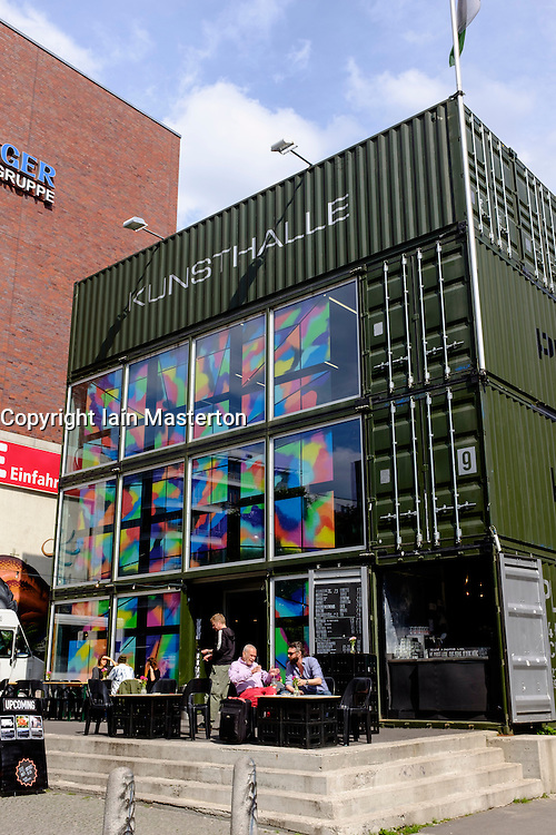 Platoon Kunsthalle art centre built from shipping containers in Prenzaluer Berg in Bern Germany