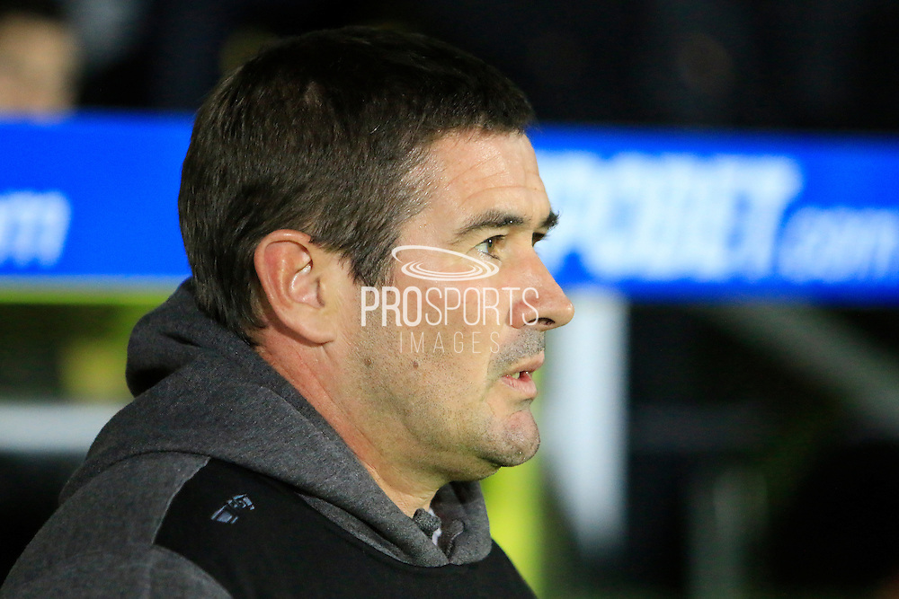 Burton manager Nigel Clough during the EFL Sky Bet Championship match between Burton Albion and Birmingham City at the Pirelli Stadium, Burton upon Trent, England on 21 October 2016. Photo by Richard Holmes.
